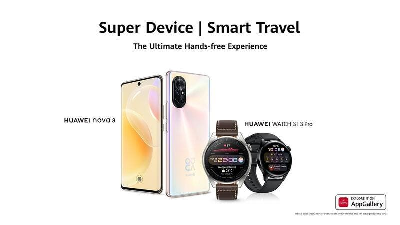 Huawei Launches the Most Elegant Smartwatch of 2021 Huawei Watch 3│3 Pro and the Stunning Huawei Nova 8 in Oman