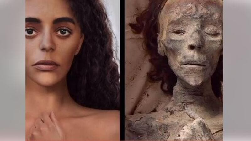 Queen Tiye: Astonishing Video Reimagining                          Her Face.. And First Picture of Her Temple