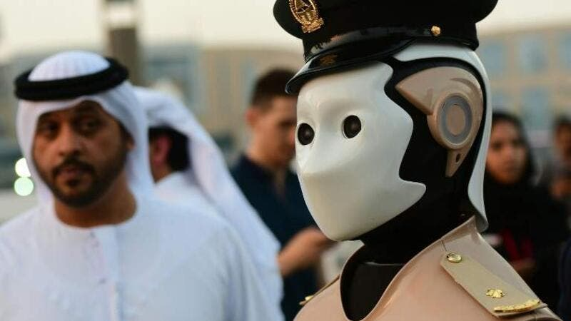 Straight out of a sci-fi movie, Dubai has built a Robocop which can detect 'wanted persons' using the facial recognition technology (AFP/File)