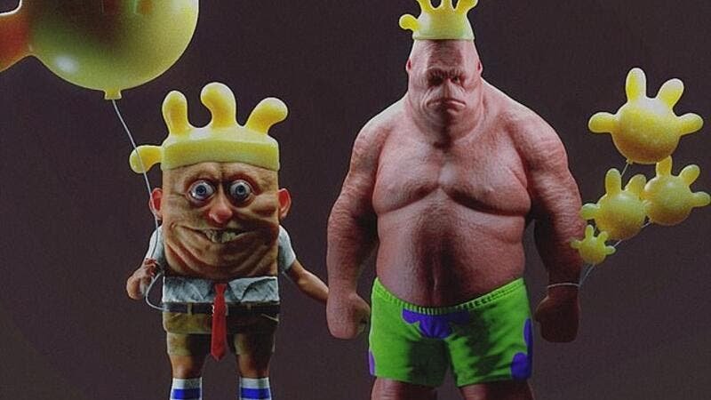 World Shocked After Artist Turned Lovable Cartoons Into Creepy 3d