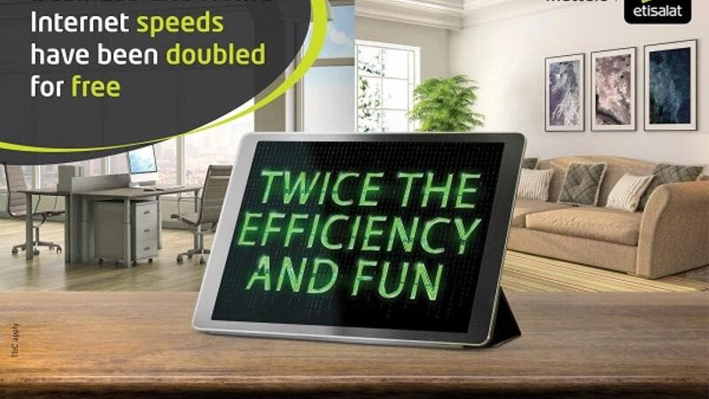 Etisalat Doubles Business Broadband and Elife Unlimited Speeds for