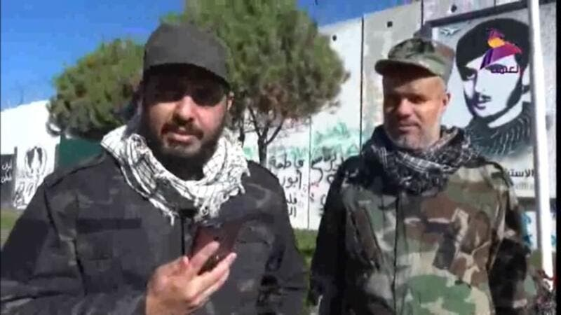 "An Iran-backed Iraqi militia leader has been filmed on the Israeli border, declaring his ""total readiness to stand with the [...] Palestinian cause against the brutal Israeli occupation"" (Facebook/al-khowa al-nathifa)"