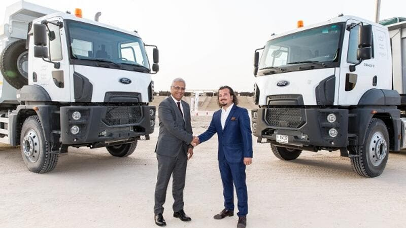 Ashok Khanna, Chief Executive Officer, Al Tayer Motors and Mustafa Caner Sinanoglu, Managing Director Middle East of Ford Trucks at the launch of the new Ford Trucks
