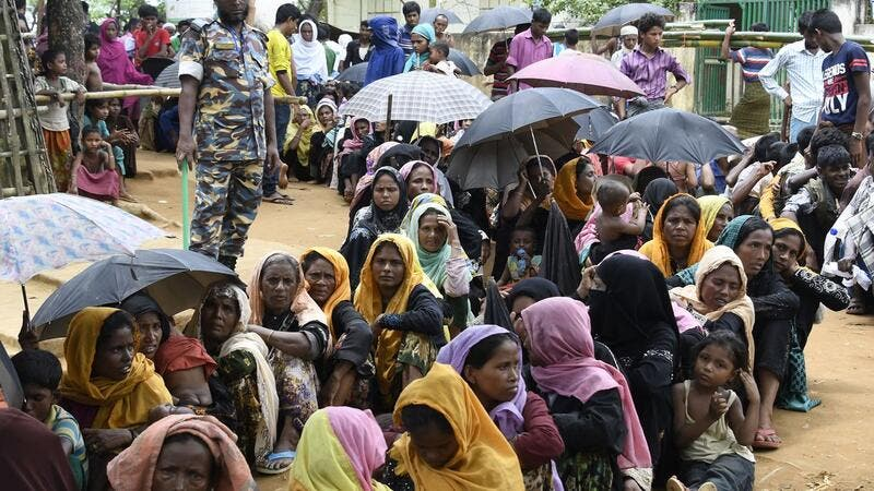 Newly arrived Rohingya Muslim refugees in the Bangladeshi town of Ukhia. (AFP/ File Photo)