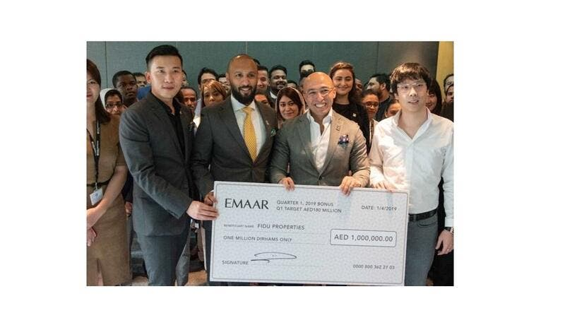 The visit, which was unexpected,came close on the heels of Emaar honouring Fidu Properties at the Annual Brokers Award night.