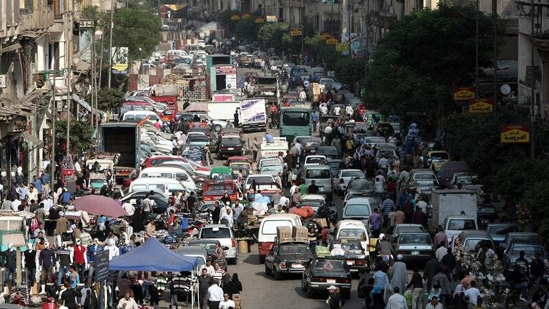 Egypt's average population growth over the past 10 years was 2.56 percent, against 2.04 percent in the previous decade (AFP/File Photo)