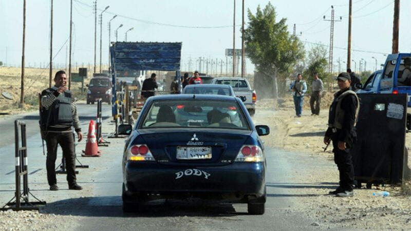 A police checkpoint in Egypt's Sinai, where a number of Islamist attacks have taken place in recent months (file photo)