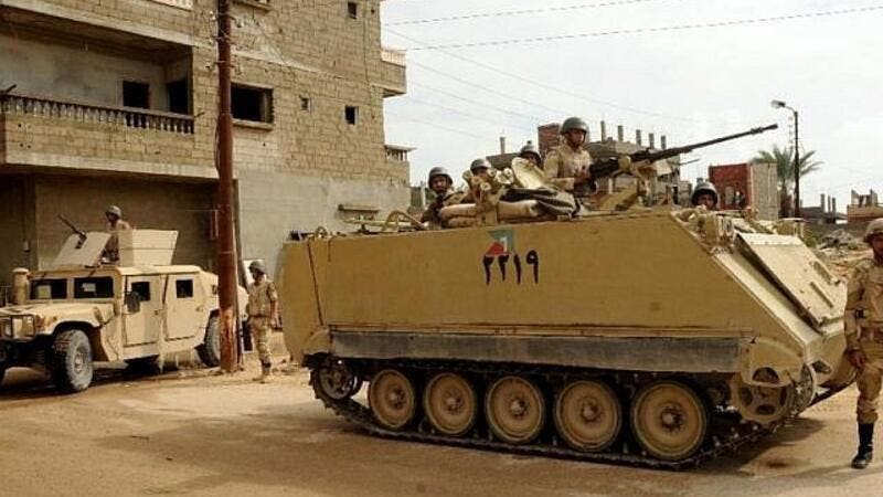 Illustrative: Egyptian security forces in the Sinai. (Mohamed El-Sherbeny /AFP)