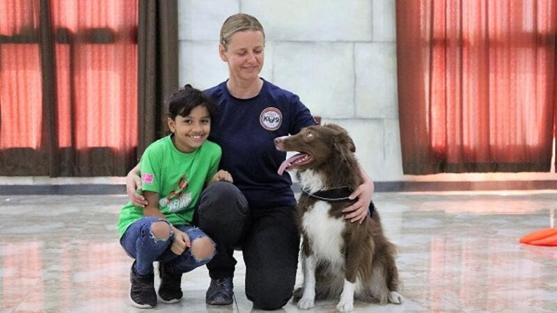 The zoo's summer camp allows the kids to experience animal interaction and participate in numerous summer camp activities, which includes the K9 dog unit show.