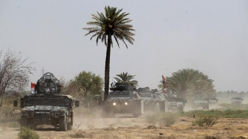 Iraqi forces traveling to Khalidiya. (AFP/File)