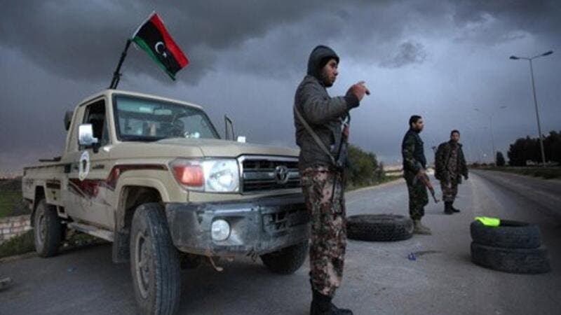 Libyan forces fighting ISIS positions in the country. (AFP/ File Photo)