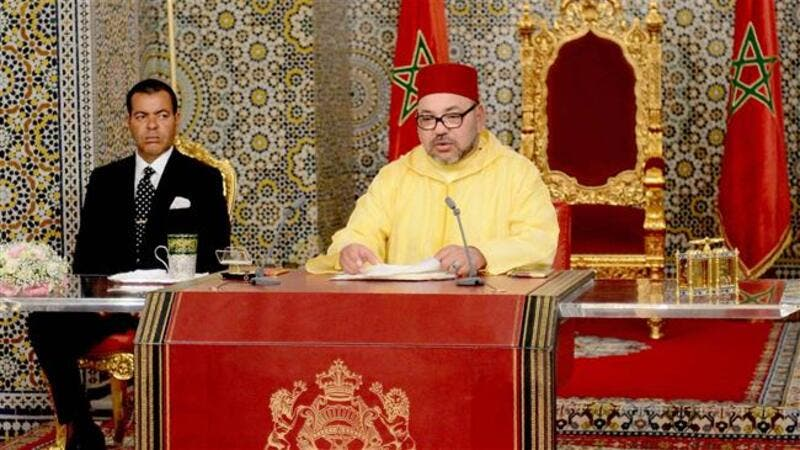 This handout picture released on July 30, 2016 shows Moroccan King Mohammed VI. (AFP/File)