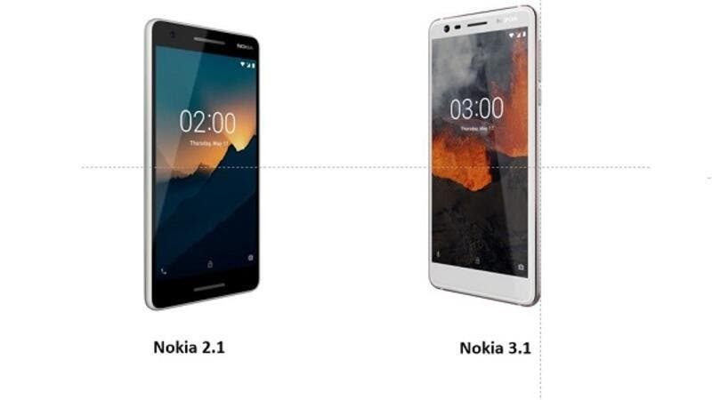 The new Nokia 2.1 will come in three metallic colours: Blue/Copper, Blue/Silver and Grey/Silver and will be available in Jordan starting August.