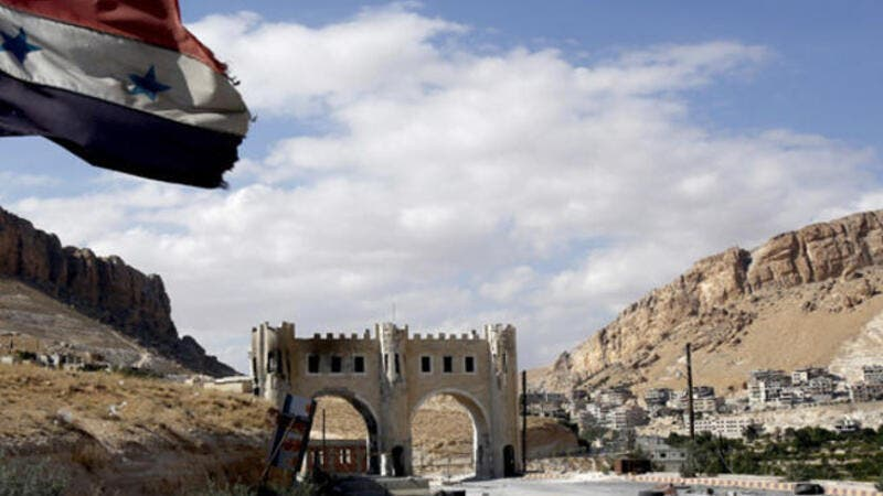 Maaloula's cathedral and churches empty of Christians as Syria's latest fight ensues. [Reuters]