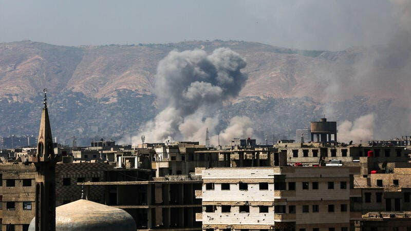 The blast occurred in the predominantly Alawite al-Zahra neighbourhood, located east of the city of Homs. (AFP)