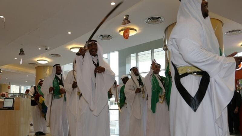 Tawuniya welcomed the employees with Ardah during Saudi National day