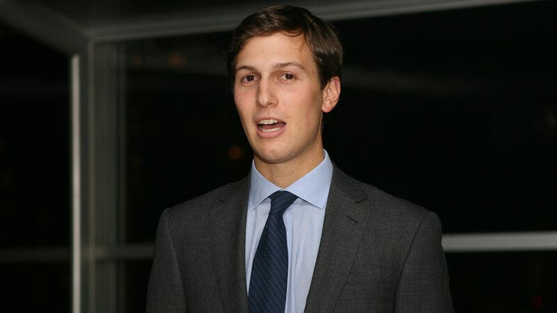 "When Trump announced Kushner would work to ""broker a Middle East peace deal"" it was widely commented that he had no diplomatic experience (Wikimedia)"