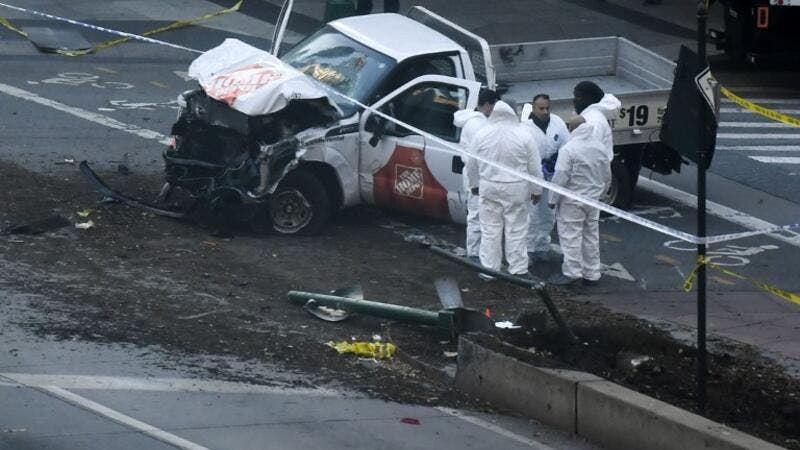 "After eight were killed and 12 injured in a truck ramming in New York on Tuesday, much was made of reports that the assailant had cried ""Allahu Akbar"" (Don Emmert/AFP)"