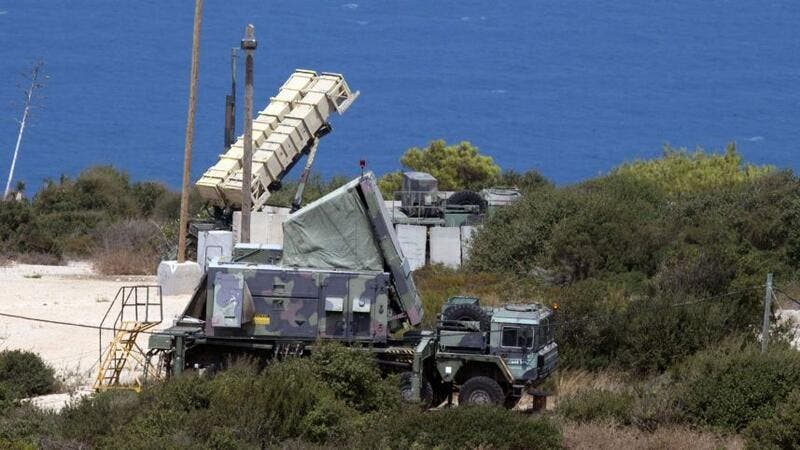 The Patriot anti-ballistic missile system intercepted the unmanned aerial vehicle before it penetrated Israeli skies. (AFP/File)