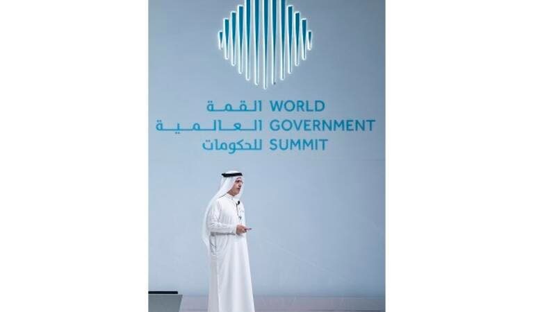 Saeed Mohammed Al Tayer, Managing Director and CEO of DEWA, speaking at World Government Summit in Dubai.
