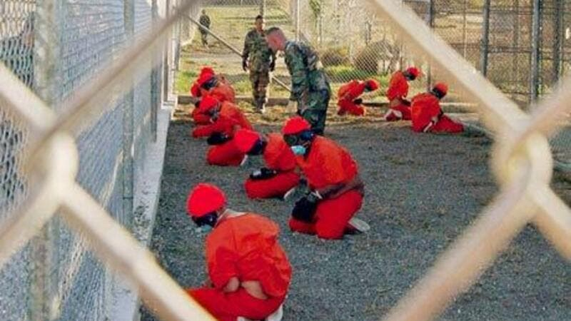 A screenshot of inmates in Guantanamo Bay, United States. (AFP/File)