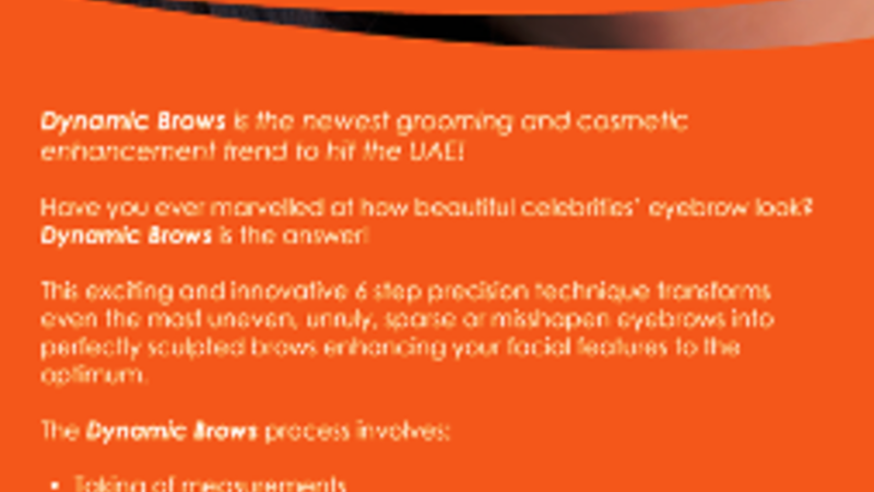 Dynamic Brows brochure