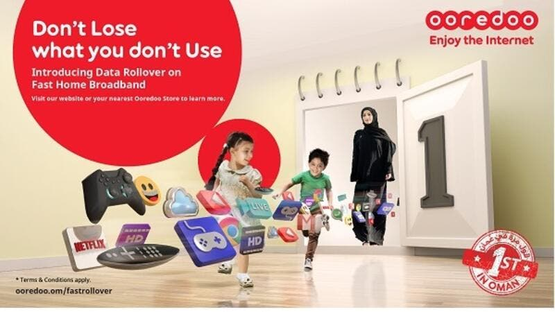 Customers can sign up for Fast Home Broadband at any of the 50 Ooredoo stores located across the Sultanate and be online the same day.