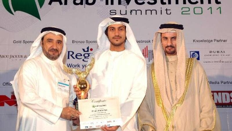 Ahmad Al Kulli, General Manager of Emaar Middle East receiving the award