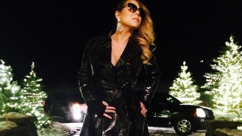 Living the glam life, Mariah Carey is seriously rollin' in the dough now! (Image: Facebook)