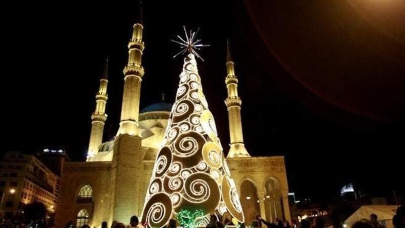 A dangerous combination of mosques and Christmas trees.