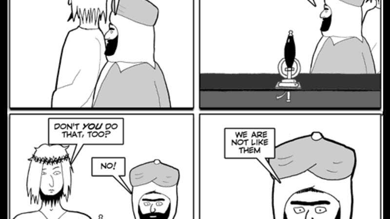 The Muslim Association of Britain says the Jesus and Mo cartoons are as offensive as the 2005 Danish cartoon scandal (Courtesy of Jesus and Mo)