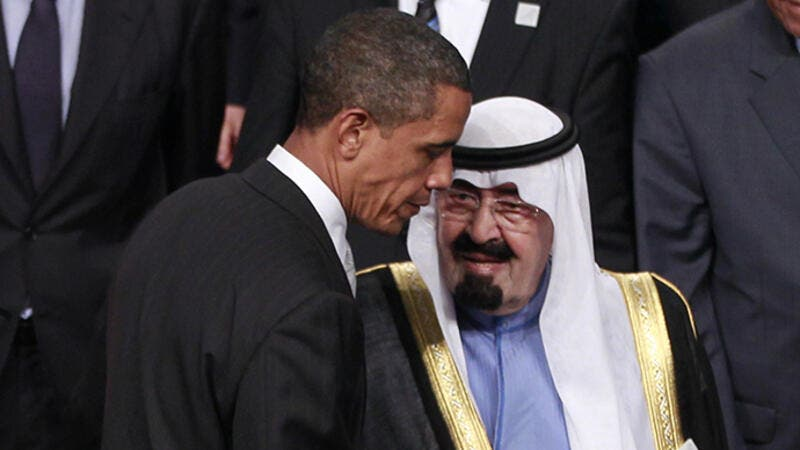 President Barack Obama of the United States and King Abdullah of Saudi Arabia. (AFP/File)