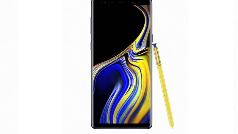 The Ocean Blue Galaxy Note9