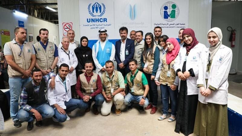 The visit aimed to get a closer view of the efforts undertaken by the UAE to alleviate the suffering of Syrian refugees.