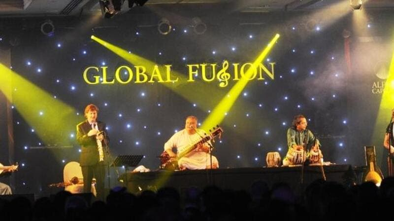 Artistes performing at Bank Sarasin Alpen and Alpen Capitals Global Fusion event