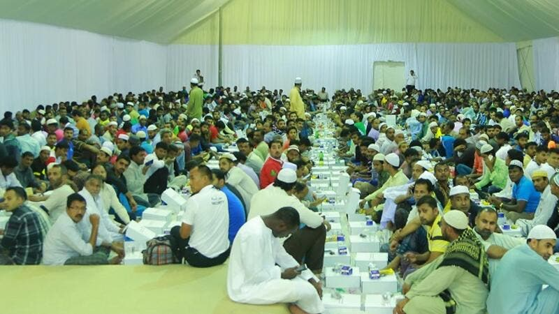 Over 3,300 Iftar meals are being distributed every day, a total of over 100,000 meals during Ramadan to DP World.