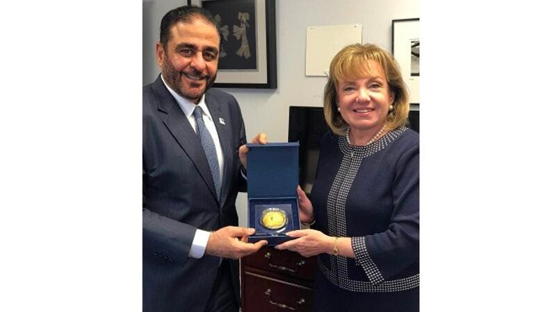 Mansoor Al Awar discusses prospects for academic cooperation with President of Drexel University Online.