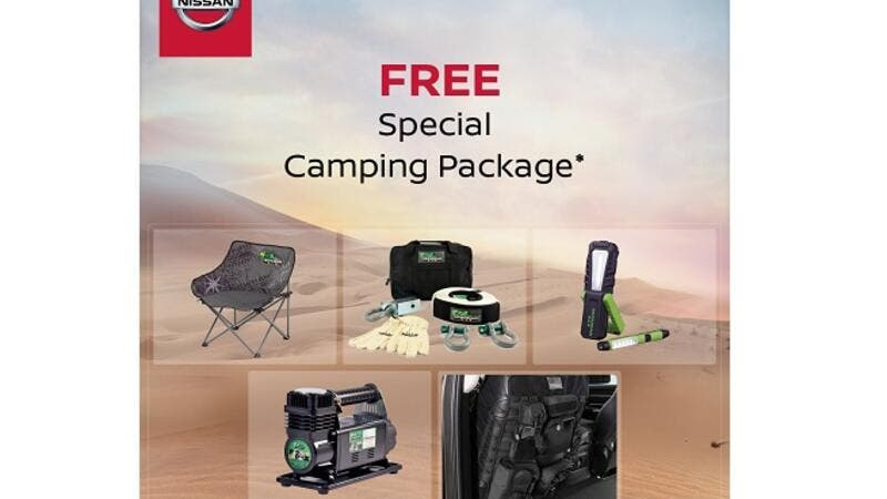 Nissan Patrol Safari owner will be entitled to a free special desert package that holds camping equipments.