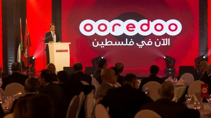Ooredoo Palestine CEO Speaking at the event