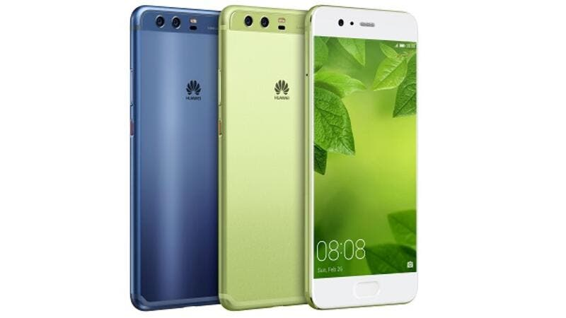 Huawei unveiled the new green color of its P10 and P10 Plus smartphones.