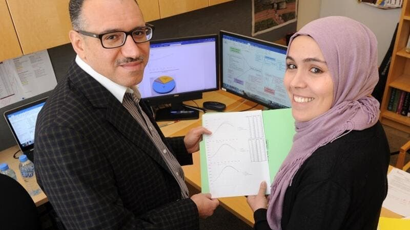 Professor Laith Abu-Raddad and researcher Susanne Awad.