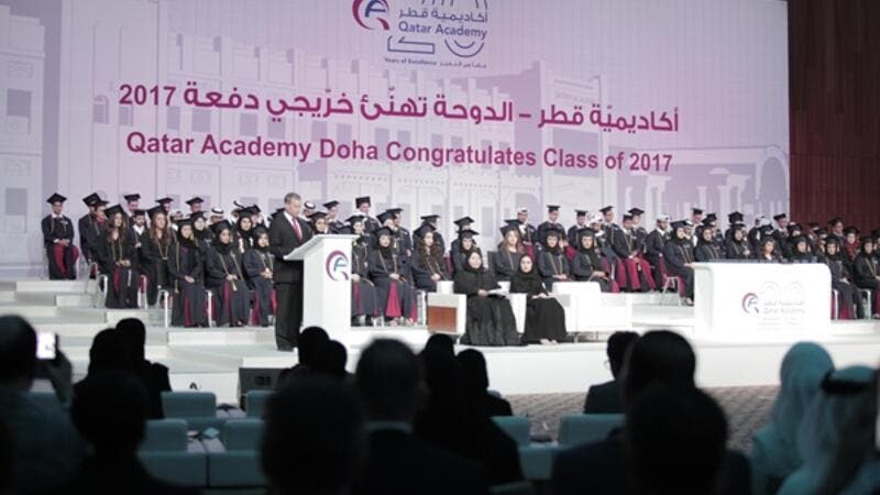 The ceremony celebrated the graduation of 85 students, including 44 Qatari nationals.