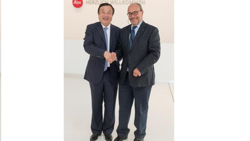 Ren Zhengfei CEO of HUAWEI and Markus Limberger, Chief Operating Officer