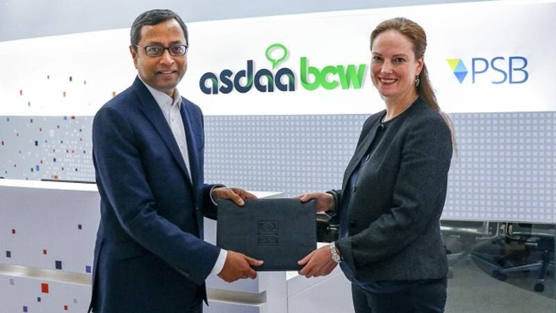 Governance champions: Carla Koffel, Executive Director of the Pearl Initiative, and Sunil John, Founder & President, Middle East, ASDA'A BCW, after inking the agreement at ASDA'A BCW's headquarters in Dubai