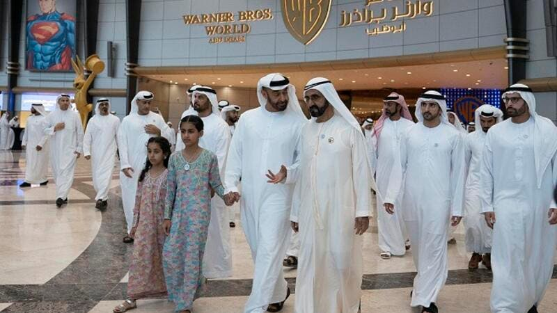Their Highnesses attended the official inauguration ceremony, which took place in the Warner Bros. Plaza at Warner Bros. World Abu Dhabi.