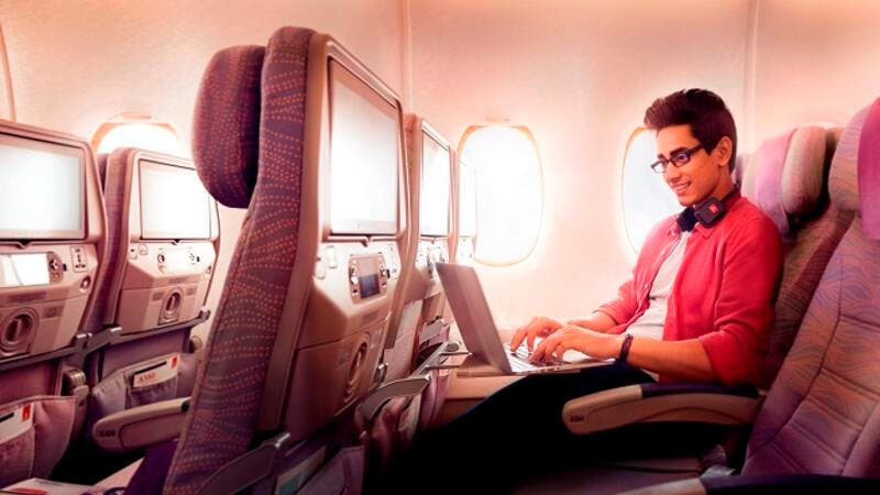 Emirates sets new record with over 1 million Wi-Fi connections on board in March.
