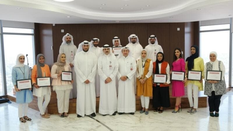 Saleh Al-Houti with the interns