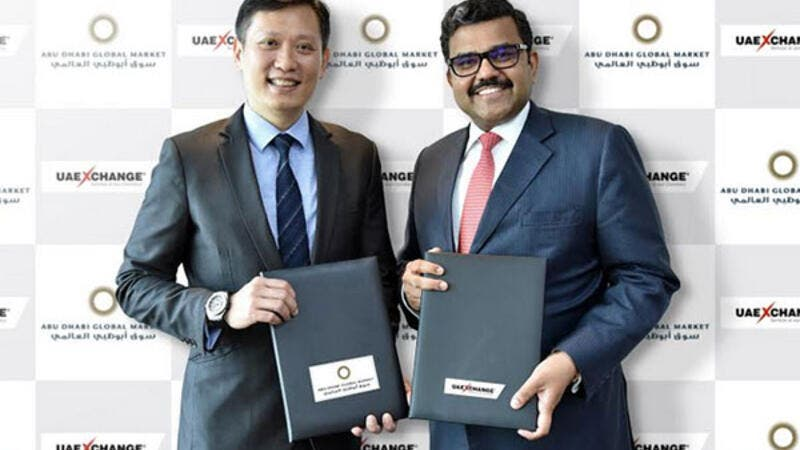 The memorandum of understanding was signed by Promoth Manghat, chief executive officer of UAE Exchange Group, and Richard Teng, chief executive officer of the Financial Services Regulatory Authority (FSRA) of ADGM.