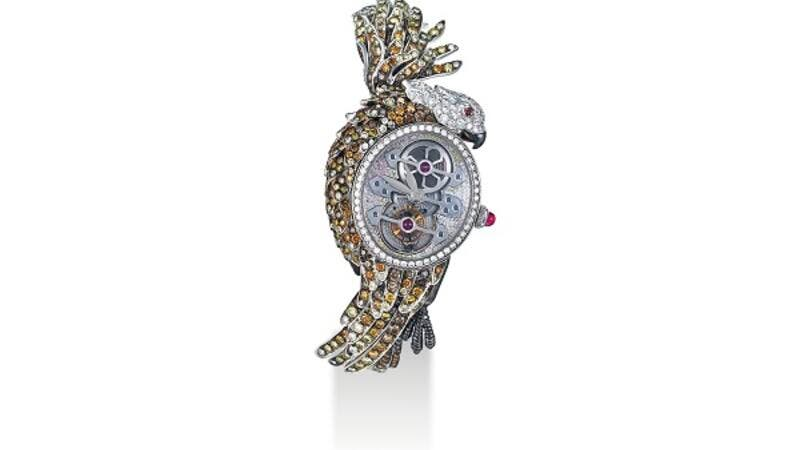 Lot 37 Boucheron a unique and exceptional 18k white gold And diamond-set Tourbillon Wristwatch