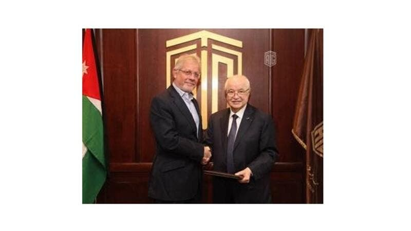 The agreement was signed by Fawaz Al Zou'bi and Talal Abu-Ghazaleh at TAG-Org's headquarters in Amman.